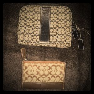 Coach change purse and card holder